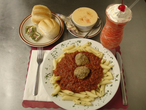 Ziti and Meatballs